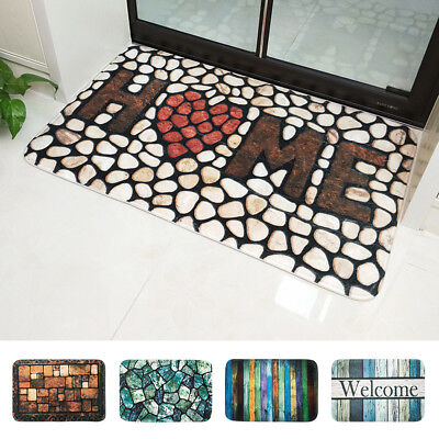 2x Anti Slip Shower Rug Bathroom Bath Mat Carpet Water Drains Non Slip AU