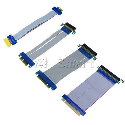 Professional PCI-E1X /4X /8X /16X Riser Card Ribbon Extender Extension Cable New