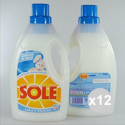 Set 12 SOLE Lana délicat 1LT Talc talcs blanchisserie Machine à laver vêtements