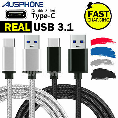Type-C USB-C 3.1 Data Snyc FAST Charger Charging Cable Samsung S10 S9+ S8 Note9