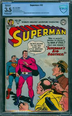 Superman # 80  Superman's Big Brother !  CBCS 3.5  scarce Golden Age book !