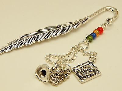 Harry Potter Hogwarts Supplies Spell Book, Owl and Wizard Hat Inspired Bookmark
