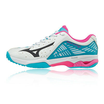 Mizuno Womens Wave Exceed 2 All Court Tennis Shoes Blue White Trainers ed476f7ff