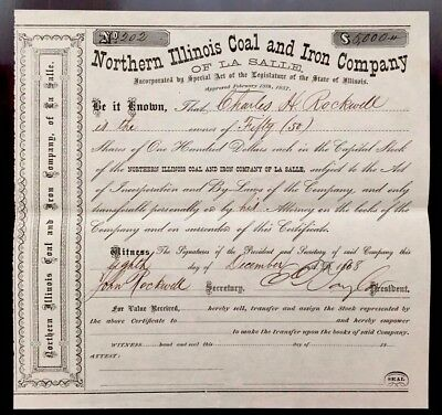 1868 N. Illinois Coal & Iron E.D. TAYLOR -BEAT ABE LINCOLN & FATHER OF GREENBACK