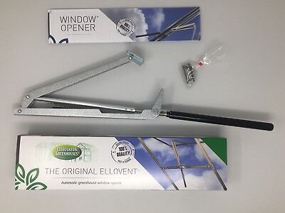The Original Ellovent® Automatic Greenhouse Window Opener, Roof Vent Autovent