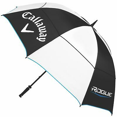 New Callaway Rogue 68 Inch Double Canopy Golf Umbrella- Black/White