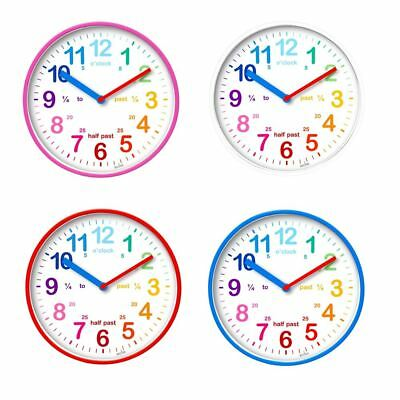 Acctim Wickford Kids 20cm Wall Clock Colourful Dial Learn To Tell The Time 22520