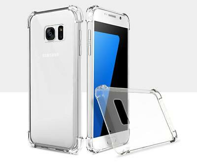 For Samsung Galaxy S7 Case Shockproof 360 Silicone Clear Transparent Gel Cover