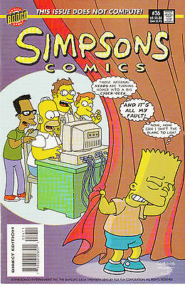 SIMPSONS COMICS 36...VF/NM...1998...Great Comic!...Bargain!
