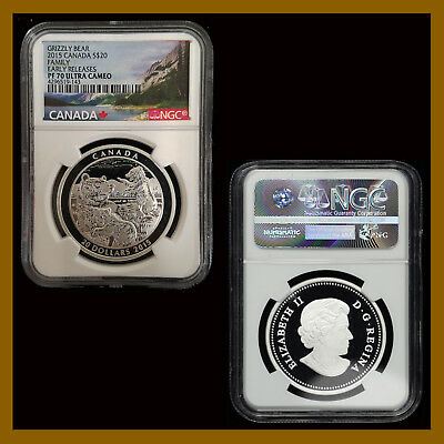 Canada 20 Dollars Silver Coin, 2015 Grizzly Bear Family NGC PF 70 Early Releases
