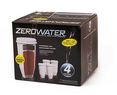 ZeroWater Replacement Water Filter Pack of 4
