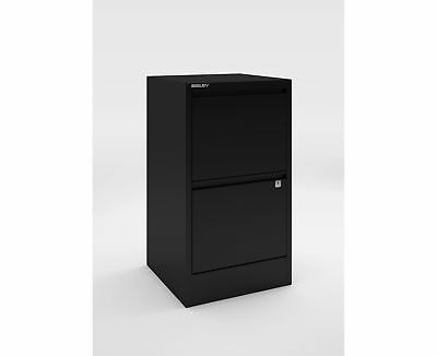 Bisley A4 2 Drawer Flush Front Filing Cabinet