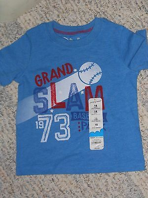 "NWT - Jumping Beans short sleeved blue ""Grand Slam"" baseball shirt - 9 mos boys"