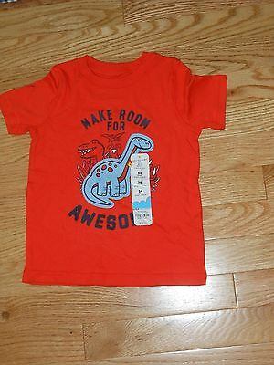 NWT- Jumping Beans short sleeved orange & blue dinosaur shirt - 24 mos boys