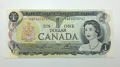 1973 Canada 1 One Dollar Prefix NP Canadian Bill Circulated Banknote E302