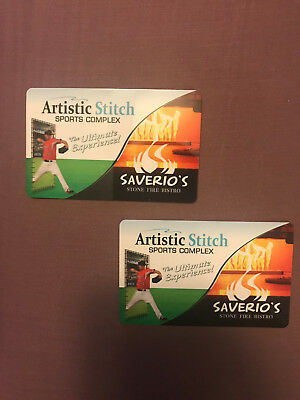 $100 Artistic Stitch Sports Complex Gift Cards -  Lot of two $50 cards