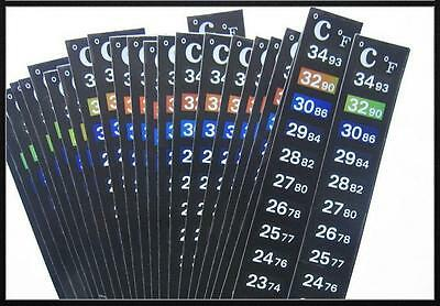 Aquarium Lcd Adhesive Thermometer Strips (1-25).