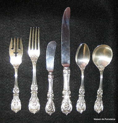 REED & BARTON FRANCIS I (FIRST) STERLING SERVICE FLATWARE 6 PIECE SET 1900's