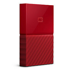 WD My Passport 2TB Red Manufacturer Refurbished Portable Hard Drive