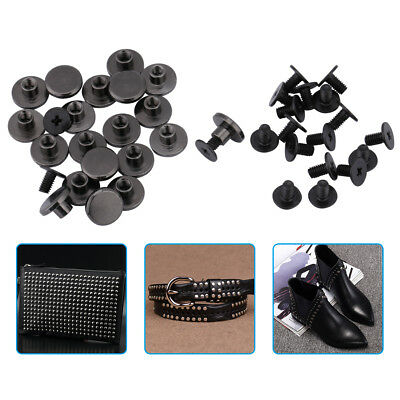 20 Sets 5mm 8mm Flat Head Belt Strap Rivets + Screw for Luggage Leather Craft