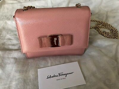 577c688155 SALVATORE FERRAGAMO GINNY Mini Crossbody Shoulder Bag Blush Pink -  415.50