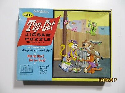 Vintage 1961 Top Cat 70 Piece Jigsaw Puzzle Used Complete Whitman