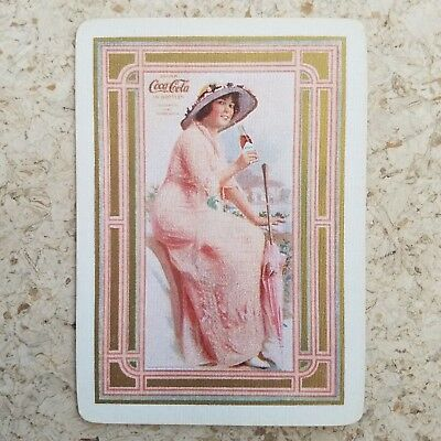 1915 Coca-Cola Playing Card Single Elaine, Near Mint to Mint!!