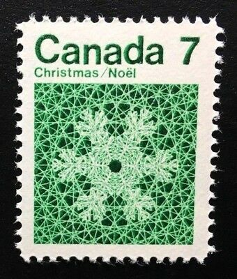 Canada #555 Untagged MNH, Christmas - Snowflakes Stamp 1971
