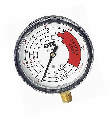 OTC (9652) Pressure and Tonnage Gauge with 4-Scales 25 Ton
