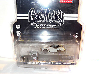 Greenlight Gas Monkey 1970 Ford F350 Ramp Truck & 65 Shelby Cobra Mijo Exclusive
