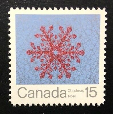 Canada #557 Untagged MNH, Christmas - Snowflakes Stamp 1971