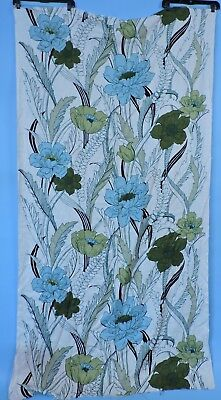 Vintage Old Stock Floral Print Linen Fabric Never Used
