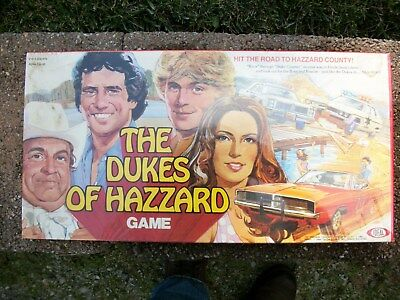 Vintage, Nos The Dukes Of Hazzard Board Game W/orig Shrink Wrap Ideal 1981
