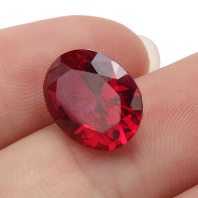 4.12CT Rubis Diamant 9X11MM  Rouge Ovale Grenat Artificiel Pierreries Bijoux