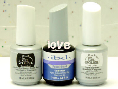 IBD Just Gel Polish LED/UV 15ml/0.5fl.oz Bonder / Base Coat / Top Coat *Pick Any