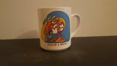 Rocky and Bullwinkle Surfing Rare Coffee Cup NJ Croce
