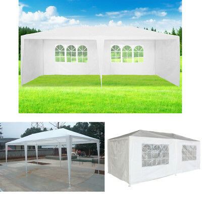 3m x 6m Waterproof Outdoor PE Garden Gazebo Marquee Canopy Party Wedding Tent UK