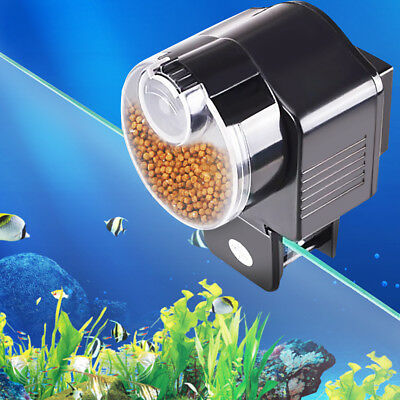 Automatic Aquarium Tank Pond Auto Fish Food Feeder Timer Feeding US Stock