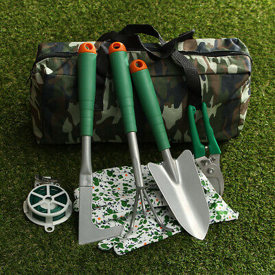 Garden Handheld Gardening Planting Tools Set With Carry Bag Yard Lawn Flower