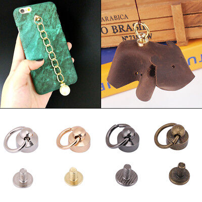 20 Sets Pacifier Ring Rivets Studs for Leather Bag Phone Case Decoration 8mm