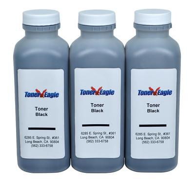(3) Toner Eagle Refill w/Chips for Lexmark 501H MS310 MS410 MS510 MS610 50F1H00