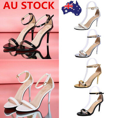 Women Ladies Summer High Heel Stiletto Sandals Peep Toe Buckle Ankle Strap Shoes