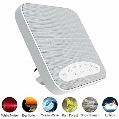 White Noise Machine Sleep Sound Therapy with 3 Timers & 6 Natural Sounds Ideal