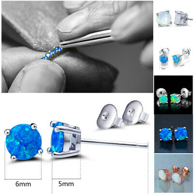 Fashion Women's Silver Plated Ear Stud Gemstone Earrings Wedding Party Jewelry