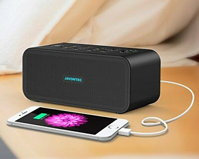 JAVONTEC Portable White Noise Sound Machine with 6 Nature Sounds. Sleep Therapy