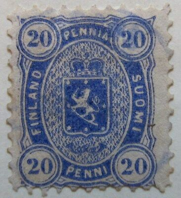 A8P1 Finland 1875-82 20p Perf 11 used #1