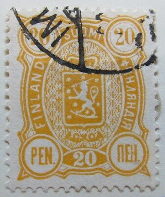 A8P1 Finland 1889-95 20p Perf 14x13 used #9