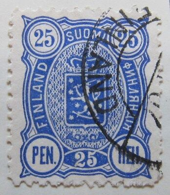A8P1 Finland 1889-95 25p Perf 12 1/2 used #10