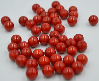 NEW 50 RED DEVIL 14mm GLASS MARBLES OPAQUE TRADITIONAL COLLECTORS ITEMS ND