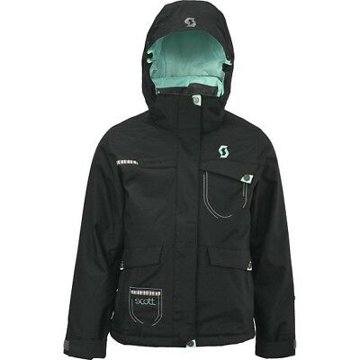 Scott Crystalline Girls Winter Ski Snow Jacket Black Green RRP £110 V Sizes NEW